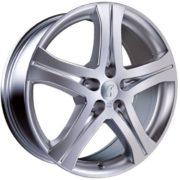 1 x Rondell Design 0046 in 6,5 x 16 ET 45 LZ/LK 5 x 114,3 Farbe Silber lackiert für Honda CR-V (I) Typ RD1, RD3