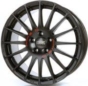 LEICHTMETALLRADER SUPERTURISMO GT 8x19 ET 35 OZ RACING 5x112 MATT BLACK RED LETTERING