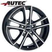 Alufelge Autec YUCON VW Caddy Maxi 2K, 2KN 6.5 x 15 Schwarz poliert