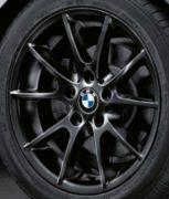 Original BMW Alufelge 1er E81 E82 E87 E88 Doppelspeiche 178 schwarz in 17 Zoll