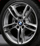 Original BMW Alufelge 1er E81 E82 E87 E88 M Doppelspeiche 261 Ferricgrey in 18 Zoll für vorne