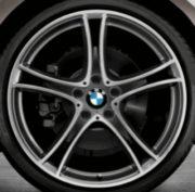 Original BMW Alufelge 1er F20 F21 Doppelspeiche 361 Glanzgedreht in 19 Zoll für hinten