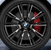 Original BMW Alufelge 1er F20 F21 M Doppelspeiche 624 Schwarz matt in 19 Zoll für hinten