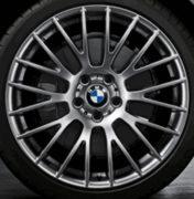 Original BMW Alufelge 5er F10-F11-LCI Kreuzspeiche 312 Ferricgrey in 20 Zoll für hinten